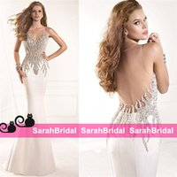 2015 Tarik Ediz Evening Dresses for Women Beads Ivory Satin ...