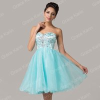 Grace Karin Strapless Organza Ball Gown Beaded Cocktail Even...
