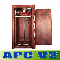 APC V2 box mod Dual 18650 wood mod suit for all kinds of rda...