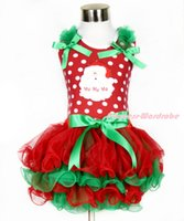 HOT Christmas Dot Dresses Girls Bowknot Yarn Skirt New Year ...