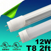 CE ROHS UL CUL + 2ft 600mm T8 Led Tube Lights High Power 12W...