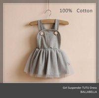 Vintage Baby Girls Kids Autumn New Dresses Suspender Lace Ve...