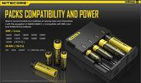 Chargeur de batterie Nitecore I4 Chargeur numérique Ecran LCD Chargeur universel Nitecore i4 VS Nitecore i2 D2 D4 UM10 UM20 Bonne qualité