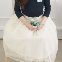 baby girl kids lace skirt flower tutu skirt floral tutu skir...
