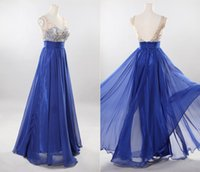2015 New Arrival V- Neck Evening Gowns A- line Floor Length Ru...