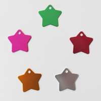 200pcs lot Aluminum Star design Pet Cat Dog ID Tags Blank Pe...