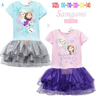 EMS 30pcs Froze Children Girls Dresses Kids Clothing 2014 El...