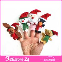 Xmas Hand Puppet Toy Story Play Santa Reindeer Snowman Pengu...