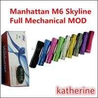 Новое Прибытие М6 полная Механическая мод 510 резьбе mod для электронной сигареты e сигареты батареи 18650 анодированный 7075 алюминия заготовки различных цветов Наличие На складе
