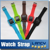 Pour iwatch Bande de montre silicone Apple Suivre Silicon bracelet 38mm sangle de 42mm montre Smart Watch bandes bande de montre-bracelet 5 couleurs 2015