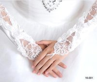 2016 Cheap In Stock White Bridal Gloves Wedding Gloves Lace ...