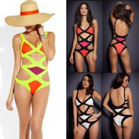 Hot Sexy Bandage Swimwear Elastic Bikini One- piece Monokini ...