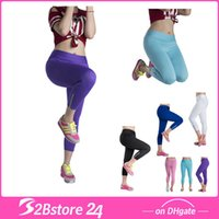 Candy Color Women YOGA Pants Tight Running Riding Leggings Y...
