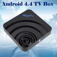 Rippl-TV Android Quad-Core 4.4 TV Casella di XBMC 4K 2G/8G DLNA, Airplay Miracast WIFI, Bluetooth, HDMI 1080P TV BOX Telecomando DHL V948