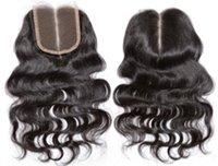 2016 encierro del cordón de la onda del cuerpo del pelo brasileño de la Virgen del pelo MOBB pieza de cierre libre de la parte media de 3 vías Parte encierro de la tapa del cordón