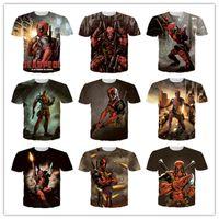 T-shirt Running ao ar livre novo 2016 Camisas do verão t dos X-Men do jogo dos desenhos animados do super-herói de Deadpool da banda desenhada da maravilha 200PCS 2051