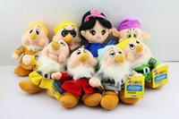 "New Sale 1 set 8 pcs The Snow White Princess and 8"" Sev..."