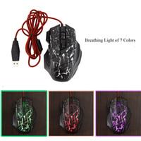 3200 DPI regolabile 7 Tasti mouse ottico USB Wired Gaming Mouse Topi con respirazione luci tripla Fuoco chiave per Pro Gamer C2153