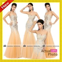 Sparkly Mermaid Wedding Evening Dresses For 2015 In Stock Ho...