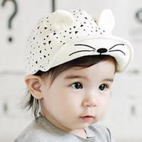 Childrens hats spring summer kids cartoon soft cotton childr...