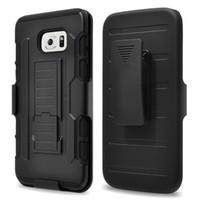Armure 6S S6 impact futur hybride de couverture Hard Case + clip de ceinture Béquille Combo Pour iPhone 4 5 6s plus Samsung Galaxy S5 S6 bord Note4