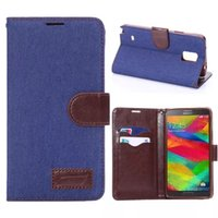 Jeans Wallet Leather Case Cover With Credit Card Slots For S...