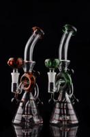 conduites d'eau bong en verre barboteur en verre Nouveau style huile capiteux gréements tuyaux d'eau bongs rig tamponner avec dôme en céramique et ongles