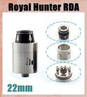 22mm Vaporisateur royale Hunter RDA RDA RH atomiseur Mod SS Black Couleur reconstructible réservoir en acier inoxydable noir 2 couleurs correspondent 510 Mods ATB267