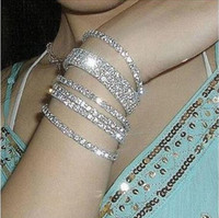 Fashion One Rows Stretchy Crystal Rhinestone Wedding Bridal ...
