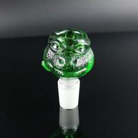 2015 NOUVEAU ARRIVE Boules pour bongs coloré bocal animal drôle 1418 verre épais gros bol G.O.G