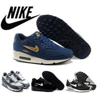 Free Shipping 2015 Nike MAX 90 demin canvas women running sh...