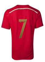Thai Quality Customized Spain 7 Molata 2014 - 15 Home Red Soc...