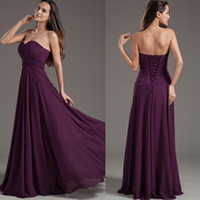 2017 Popular Style Purple Empire Bridesmaid Dresses Sweethea...