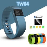 TW64 Brazalete elegante del deporte de la venda elegante Wristband Trazador de la aptitud Bluetooth 4.0 fitbit flex Reloj para ios android xiaomi mi venda 2015 Lo más nuevo posible
