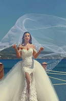 Summer Style Sexy Sweetheart Lace Mermaid wedding dresses 20...