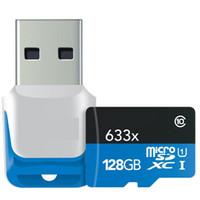 64GB 128GB microSDXC UHS-I 633X Tarjeta de memoria de alto rendimiento USB 3.0 Reader 2-Pack