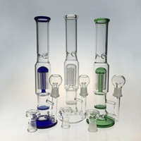 Glass Water Bongs Oil Rigs Bubbler With 3 Poke Ice Pinch Hon...