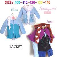 2015 100- 140 Elsa Anna Coat winter cartoon Plush Outerwear H...