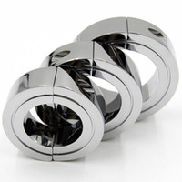 Metal Cock Ring Penis Ring Ball Stretcher Male Chastity Devi...