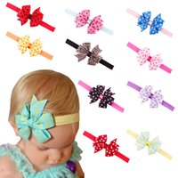 Fashion Newborn Baby Solid Bow Sweet Headband Headwear Infan...
