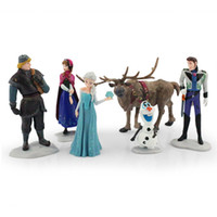 2015 Frozen New Princess Anna elsa 6pcs set PVC dolls action...