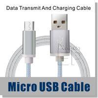 Câble micro USB, câble en nylon tressé de 1,5 m 1,5 m USB 2.0 à haute vitesse mâle à micro connecteurs en aluminium B Shell pour Samsung et Android