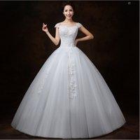New style Bateau Bride Wedding Dress Strapless Ball Gown Pri...
