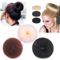 10 PCS 3 COLOR Fashion Bun Hair Former Doughnut Shaper Ring ...