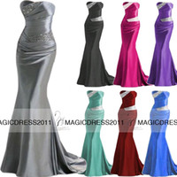 2015 Custom made Long Prom Evening Dresses with Backless Mer...