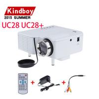 2015 UC28 + pico portable conduit mini projecteur de jeu vidéo HDMI, poche numérique home cinéma projetor proyector 80