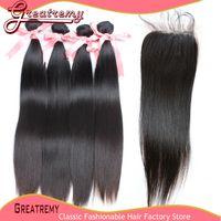 "100% Indian Virgin Hair Weave Weft 8"" - 30"" 4pcs Hai..."