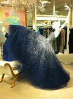 2 015 Великолепные звездное небо Пром платья без бретелек рукавов, босоножки, бальное платье из бисера длиной до пола, тюль вечернее платья