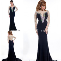 2015 Glitz Crystals Pageant Evening Dresses with Sexy Sheer ...