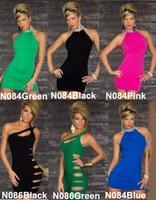 Sexy Women' s Club Wear Dresses Lingerie Ruffled Halter ...